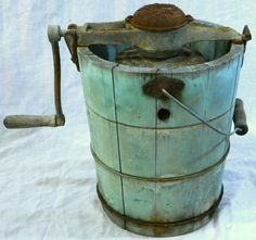 vintage ice cream maker | Antique White Mountain Ice Cream Maker Freezer Machine w Hand Crank ...