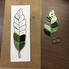 Handmade Stained Glass Large Feather Suncatcher