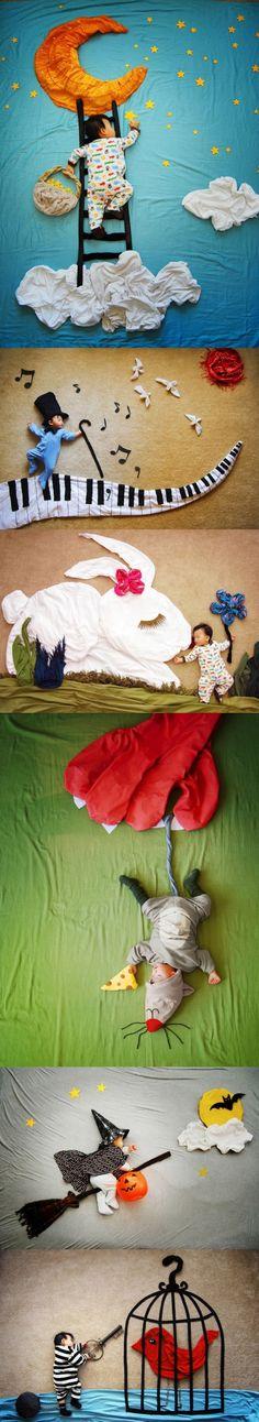 Sueños de bebé en forma de cuadros.