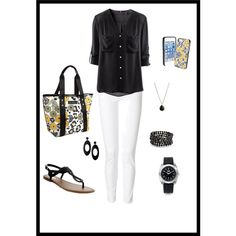 Summer outfit with Vera Bradley Accessories - Polyvore
