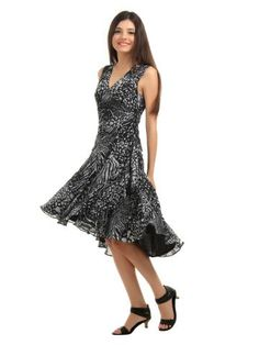 cc8a1c9ed7812 DressBerry Women Black Dress | Myntra via @Myntra.com Black Print, Pretty  Dresses
