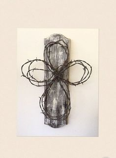 Barbed Wire Rustic Cross by simplehearteDesigns on Etsy: