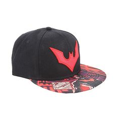 Batman Beyond Logo Snapback Hat Hot Topic ($15) ❤ liked on Polyvore featuring accessories, hats, bills hats, snap back hats, logo snapback hats, logo hats and adjustable hats
