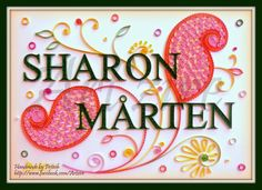 Quilling Me Softly: Quilled Name Plate - Sharon and Mårten