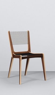 Jacques Guillon Cord Chair - 1953; to go with jeff's guillon desk