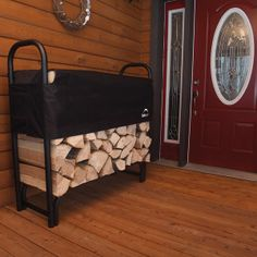 Stack, store or season your firewood logs with our covered Firewood Rack-in-a-Box. Complete wood storage rack and cover in one. Our 4 foot model holds. Firewood Logs, Firewood Rack, Firewood Storage, Wood Storage Rack, Heavy Duty Racking, Fireplace Logs, Fireplaces, Log Holder, Shelter Design