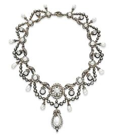 Necklace 1860, once owned by Elizabeth Taylor, Christies