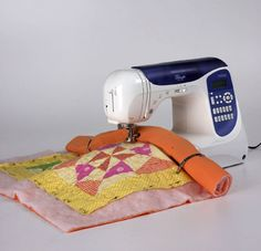 Machine Quilting Like a Pro @ All People Quilt.com: Ten tips to get started machine quilting, plus the supplies you'll need, and three basic techniques to try. GETTING STARTED: For many quilters, the thought of machine quilting can be overwhelming. Designer and expert machine quilter Mabeth Oxenreider shares her tips for success...