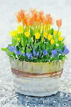 Watercolor Paintings For Beginners, Watercolor Art Lessons, Watercolor Pictures, Watercolor Projects, Watercolor Techniques, Watercolor Cards, Watercolour Painting, Watercolor Flowers, Watercolors