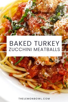 These juicy Baked Turkey Zucchini Meatballs are made with grated zucchini to create perfectly tender meatballs with an extra boost of fiber. Perfect for an easy weeknight dinner! Good Healthy Recipes, Quick Recipes, Quick Easy Meals, Turkey Zucchini Meatballs, Baked Turkey, One Skillet Meals, One Pot Meals, Easy Turkey Recipes, Turkey Dishes