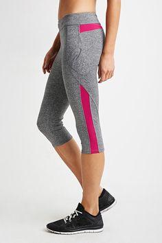 Heathered Colorblock Capri Leggings