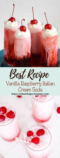 Vanilla Raspberry Italian Cream Soda – Healthy Drinks And Nutrition Raspberry Cocktail, Raspberry Syrup, Fun Drinks, Healthy Drinks, Beverages, Italian Cream Soda, Soda Recipe, Yogurt Smoothies, Strawberry Lemonade