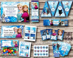 Disney Frozen Party Kit  BIRTHDAY party Printable  by TuKitDesign, $15.00