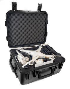 The CasePro DJI Phantom 3 Wheeled Hard Case is the ultimate travel companion for every Phantom user. Your DJI Phantom 3 and accessories are cradled in custom cut foam high density foam inside a super