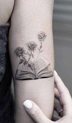 Simplistic Tattoos, Unique Tattoos, Beautiful Tattoos, Incredible Tattoos, Wicked Tattoos, Body Art Tattoos, Sleeve Tattoos, Writer Tattoo, Book Tattoo