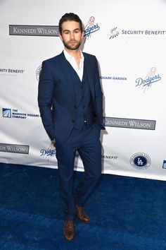 Chace Crawford Suits Up for the Blue Diamond Gala