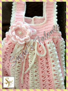 Baby Girl Dress Crochet Baby Dress Handmade Baby by SuziesTalents, $44.00
