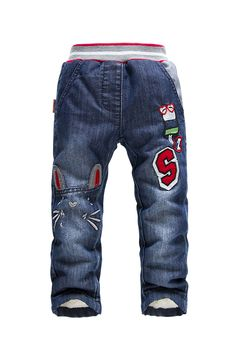 Find More Pants Information about Retails 2014 NEW KK Rabbit brand children pants thick winter warm cashmere Baby boys/girls  jeans trouser 4 9 y,High Quality Pants from Shanghai Wanxi Clothing Ltd on Aliexpress.com