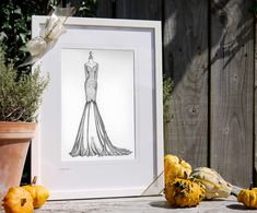 """As soon as my friend opened up her gift she jumped out of her shoes and yelled ""That's my dress!"" She absolutely loved it and thought it was super special. Thanks for making such a great wedding gift of art!"" Lisa - USA www.weddingdressink.com/shop/wedding-dress-sketch Each illustration is lovingly made-to-order and the lead time is 2-4 weeks. Please order early if thinking of Christmas, as it is my BUSIEST time of year. #christmasgift2020 #irishchristmasgift #irishmadegift"