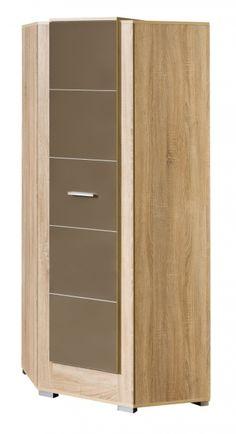 Moderní rohová šatní skříň - dub světlý/latte mat  3795 Tall Cabinet Storage, Latte, Furniture, Design, Home Decor, Decoration Home, Room Decor, Home Furnishings