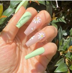 Acrylic Nails Coffin Short, Simple Acrylic Nails, Summer Acrylic Nails, Coffin Nails, Pastel Nails, Summer Nails, Stiletto Nails, Edgy Nails, Swag Nails