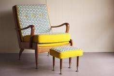 "1960's Wrightbuilt Australian ""TV Chair"" restored by Flourish and Blume"