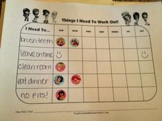home behavior chart. for all the kids!! great idea! | for my big