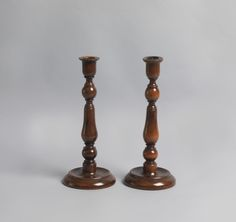 Antique Treen Candlesticks Pair Early 19th Century With Traditional Methods Candlesticks Antiques