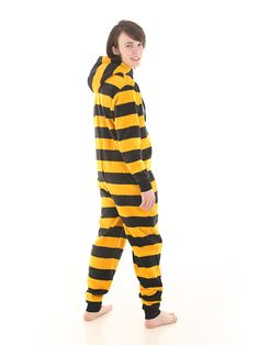 The Bumble Funzee     'Bee' ready with this fleece adult onesie  http://www.funzee.co.uk/product-range/fleece-adult-onesie-in-goldblack-stripes