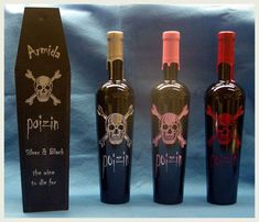Wine bottle engraving with a laser.