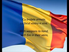 "Romanian National Anthem - ""Deşteaptă-te Române"" (Wake up Romania) Wars Of The Roses, Flags Of The World, National Anthem, Interesting Reads, Bucharest, Black Sea, Slovenia, Kids Learning, Lithuania"