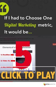 If I had to Choose One Digital Marketing metric, It Would Be.. | digitalmarketer.com