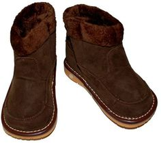 1400 Brown Suede Boot Squeaker Sneakers. $27.95