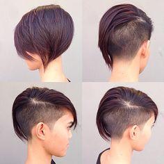 Summer Trend Bob Hairstyles for Fine Hair Coiffures Bob pour cheveux Short Hair Cuts, Short Hair Styles, Pixie Cuts, Short Pixie, Short Wavy, Pixie Cut With Undercut, Undercut Pixie Haircut, Short Undercut, Half Shaved Hair