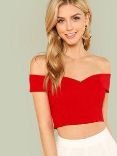 43b2b9ee55dcc Fold Over Sweetheart Bardot Top. Womens Clothing StoresGolf ClothingCheap  Boutique ClothingClothing WebsitesDesigner ...
