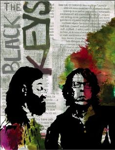 The Black Keys by sarahchiarotdesign on Etsy, $26.00. This would be a great gift for my hubby!