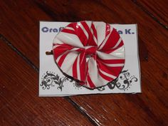 Candy Cane Duct Tape Hair Bow only $5!