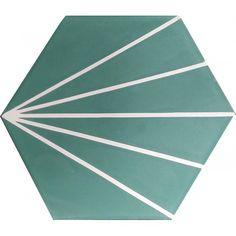 66.70€ best tile Pre Sealed Moroccan Encaustic Cement  Hexagonal Tile Artic-15-hex
