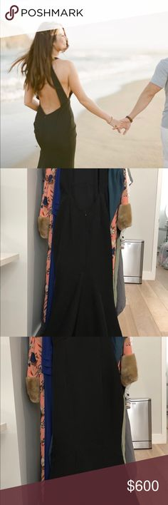 Formal Black Backless Dress Worn once for engagement photos. Like brand new. Harlow Dresses Backless