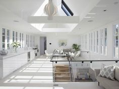 Mostly white room in San Francisco home.