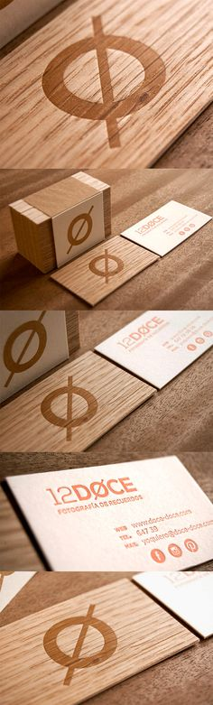 Striking Letterpress Printed Layered Wooden Business Card For A Photography Studio
