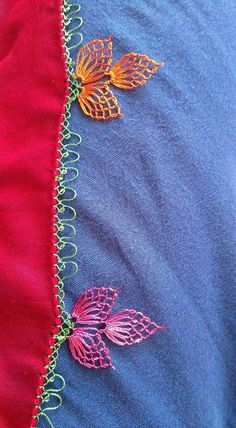 This Pin was discovered by Sem Mexican Embroidery, Embroidery Applique, Needle Lace, Needle And Thread, Crochet Edging Patterns, Designer Party Wear Dresses, Point Lace, Lace Making, Diy Clothes