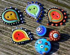 glass buttons by Linda lawrence