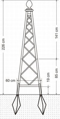 Rosenpyramide Grafik