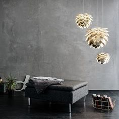 Bring a little modern elegance to your home by brightening your space with the VITA copenhagen Silvia Plug-In Pendant Light. This eye-catching table lamp features a petal-like shape and comes in your choice of available finish. Small Apartment Bedrooms, Small Apartments, Ceiling Rose, Ceiling Lamp, Bedroom Ceiling, Bedroom Decor, Bedroom Ideas, Contemporary Light Bulbs, Scandinavian Design Centre