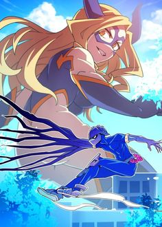 mt lady x kamui ~ mt lady & mt lady x kamui & mt lady x midnight & mt lady fanart & mt lady aesthetic & mt lady mha & mt lady manga & mt lady boku no hero Manga Anime, Me Anime, Anime Art, Anime Girls, My Hero Academia, Mount Lady, Character Art, Character Design, Anime Group