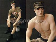 Fiberglass Realistic Male Mannequin Manequin Manikin Dress Form Display #KW12F #RoxyDisplay