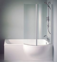 modern example of shower over bath