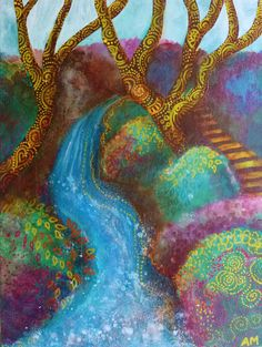 The Waterfall by AliceMasonArtist on Etsy