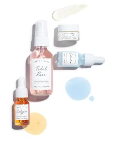DEWY YOU Kit – Earth Harbor Naturals Facial Lotion, Facial Oil, Packaging Box Design, Package Design, Packaging Inspiration, Beach Glow, Discovery Kit, Natural Toner, Natural Skin Care